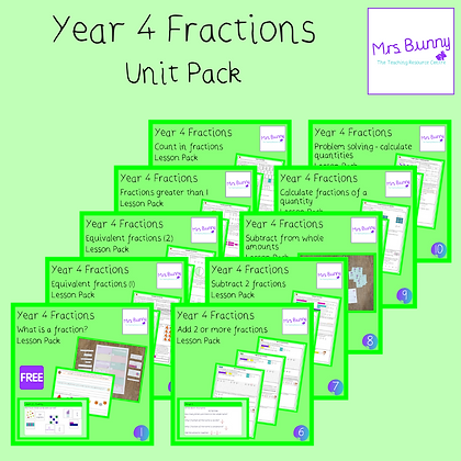 Year 4 Fractions Unit Pack