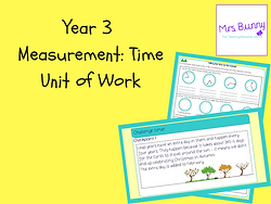 Year 3 Measurement: Time Unit of Work