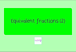 Year 4 equivalent fractions