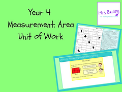 Year 4 Measurement: Area Unit of Work
