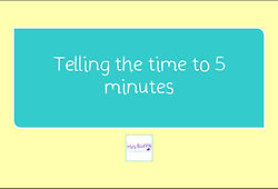 year 3 time telling the time to 5 minutes