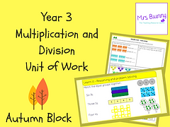 Year 3 Multiplication and Division Unit of Work (Autumn Block)
