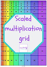 Scaled multiplication grid