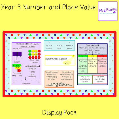 Display posters (Year 3 Number and Place Value)