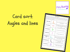 angles and lines card sort