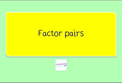 Year 4 Multiplication and Division Factor pairs