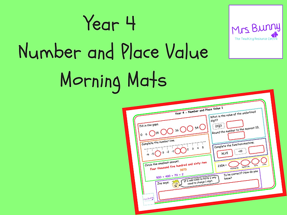 Morning Mats (Year 4 Number and Place Value)