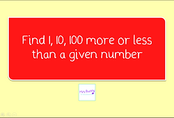 Find 1 10 100 more or less than a given number