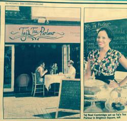 Taj's Tea Parlour press.
