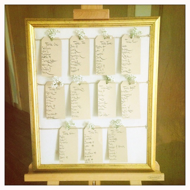 Claire and Paul's Table plan.