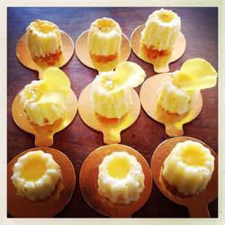 Gluten Free, with homemade Lemoncurd
