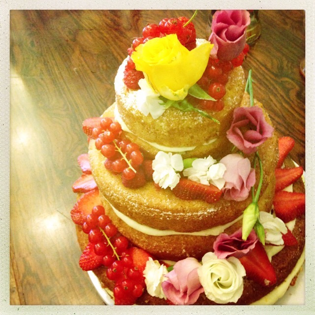 Lola and George's Naked wedding cake