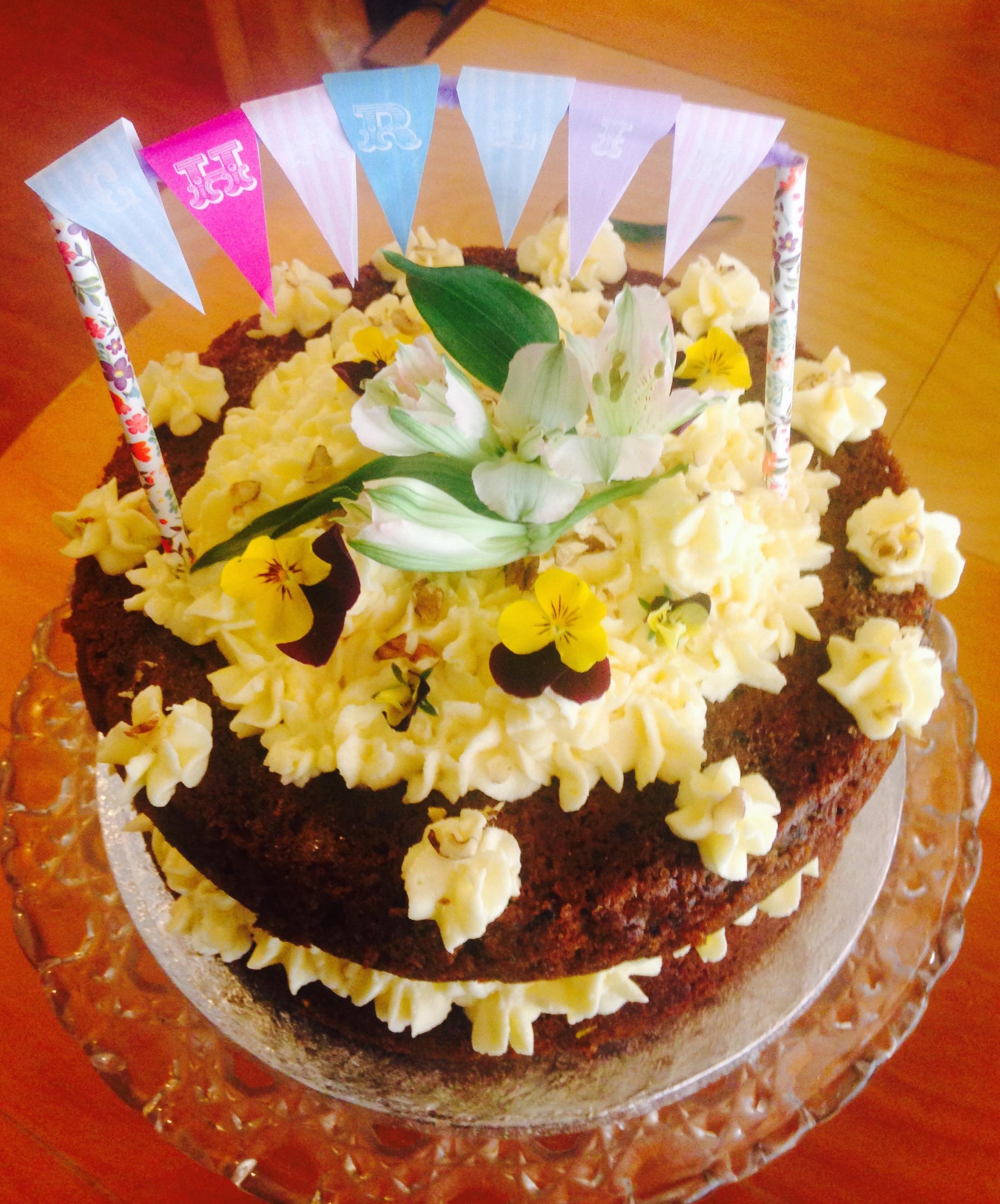 Organic Carrot Cake.