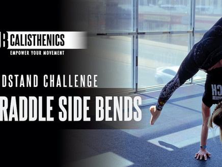 DAY 19 - Straddle Side Bend Handstand