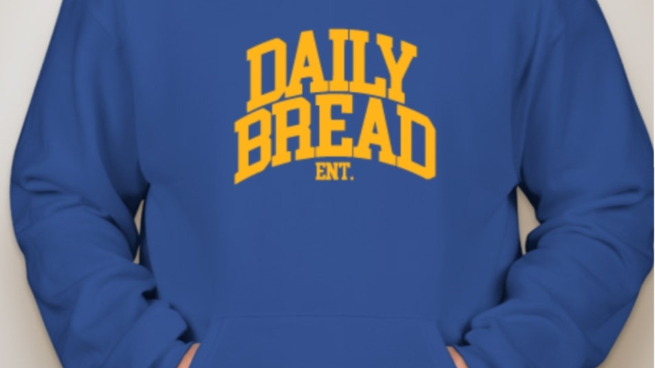 Daily Bread Ent. Royal Blue/Gold Hoodie