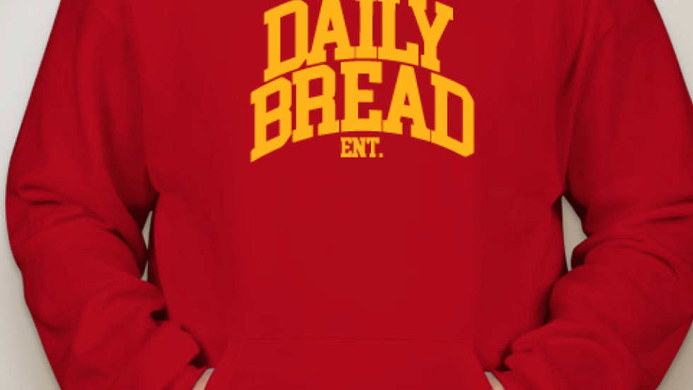 Daily Bread Ent. Hoodie (Red/Gold)