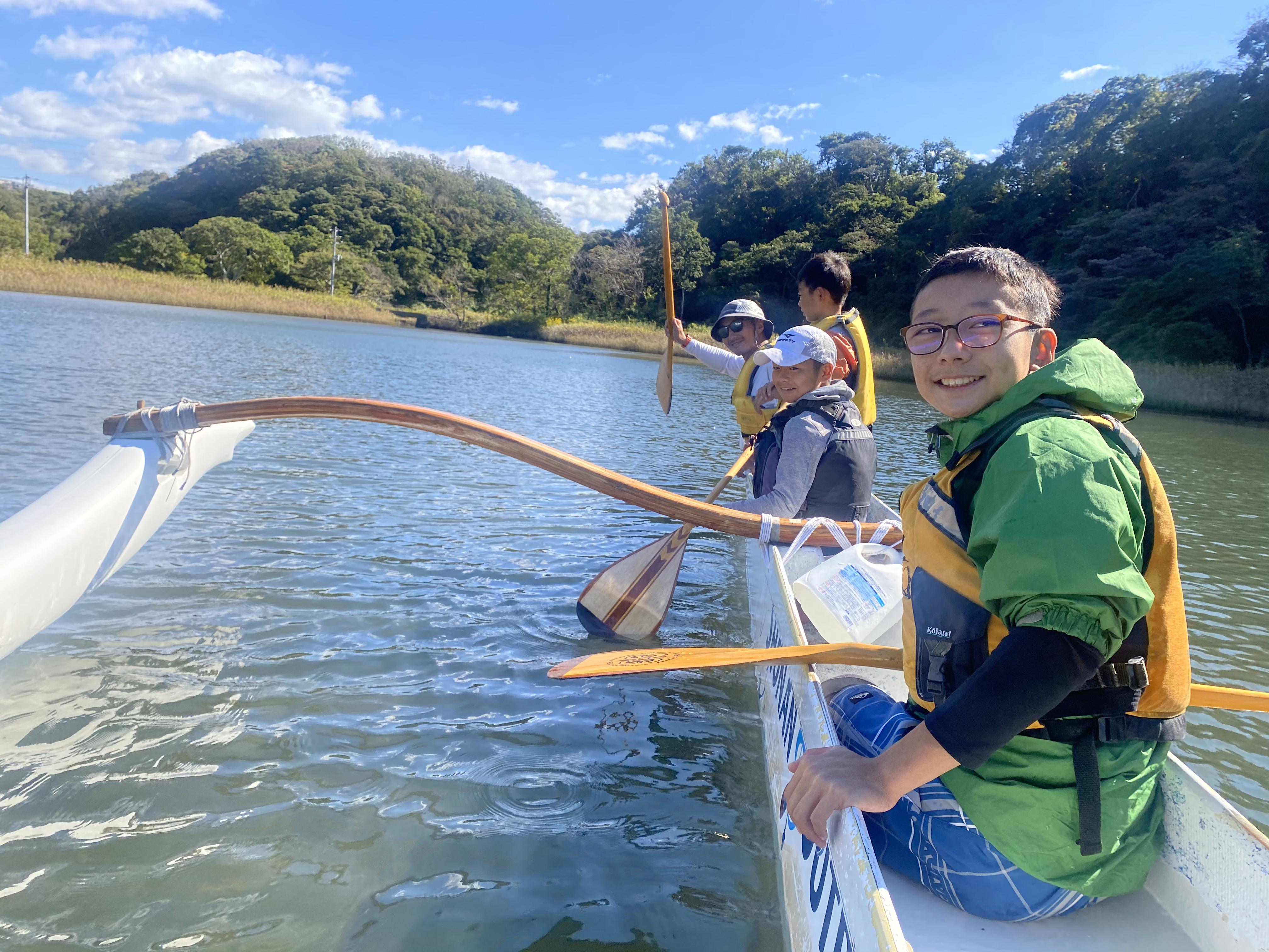 アウトリガーカヌーパドリング体験