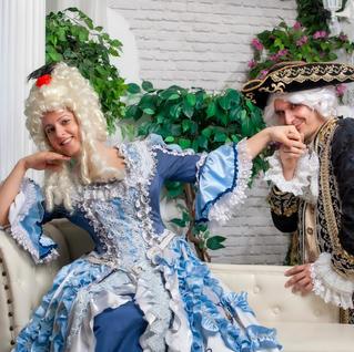 Barokk ruhás fotózás