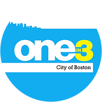 one in three citie of boston logo