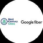 Next Century Cities and Google fiber logos