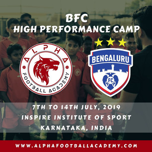 Bengaluru FC - High Performance CAmp