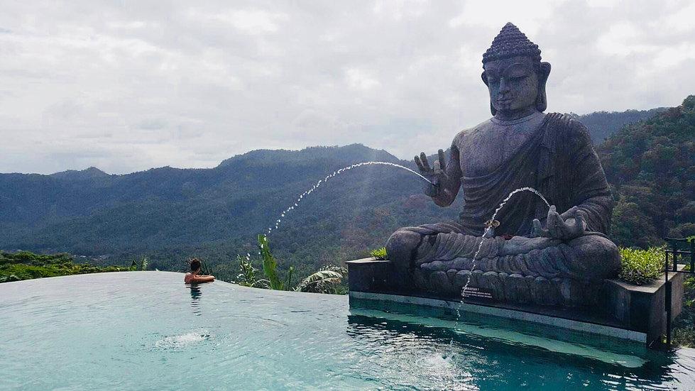 Swimming with Budha