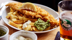 Hand Battered Locally Sourced Haddock & Chips
