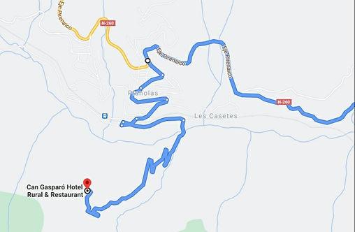 Itinerario correcto a Can Gasparó Hotel Rural & Restaurant