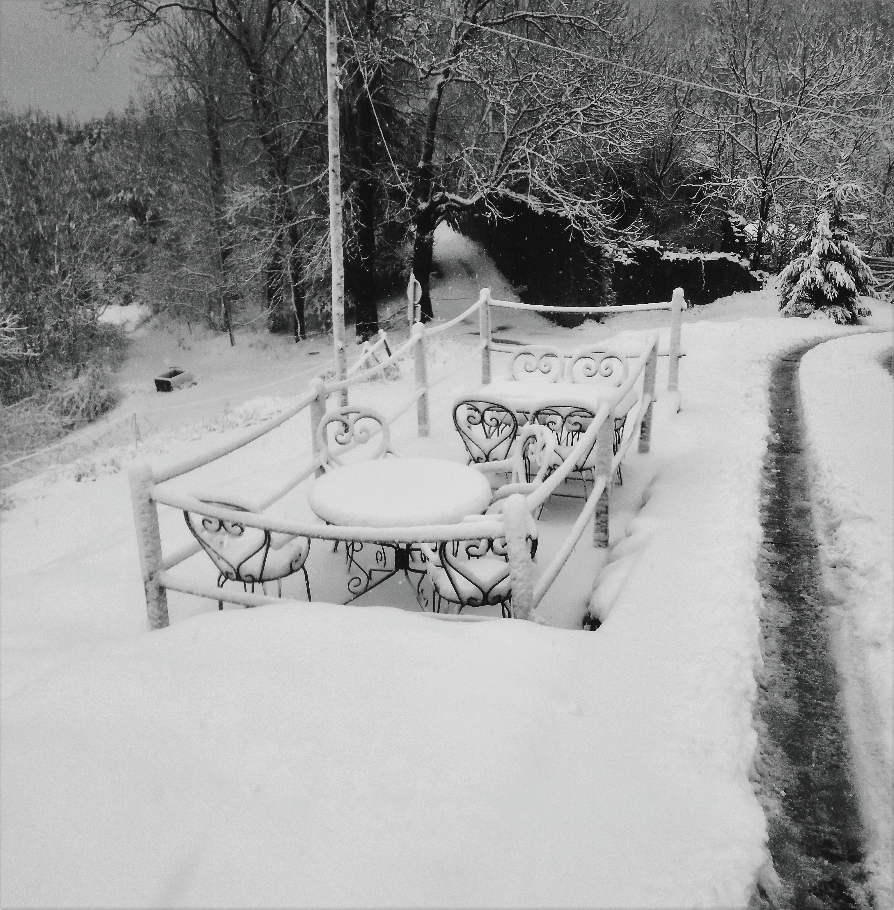Mirador terrassa nevat