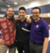 One athlete, two coaches