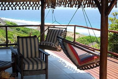 hammock overlooking the indian ocean, mozambique