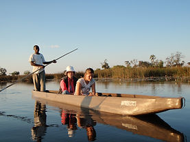 canoeing in Africa