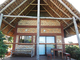 thatch roof hut tofo