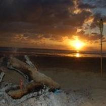 sunset barra beach