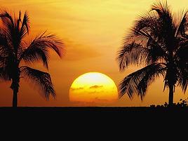 tofo beach sunset