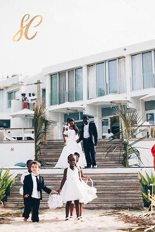 walking down the aisle in mozambique