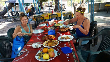 lunch on the islands in mozambique