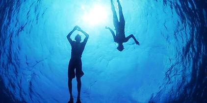Divers caught on camera underwater