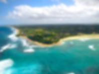 aerial view barra beach
