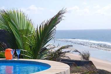 swimming pool overlooking the ocean mozambique