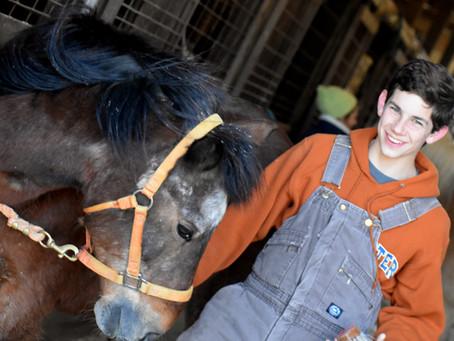 Joseph Lehn Volunteer, Recipient of EQUUS Equine Service Scholarship