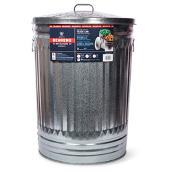 31 Gallon Steel Trash Can with Lid