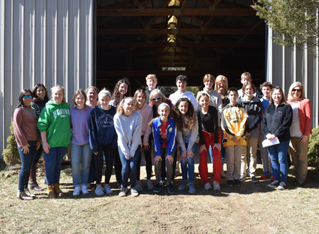 "8th Grade ""Urban Plunge"" Visits the Barn"