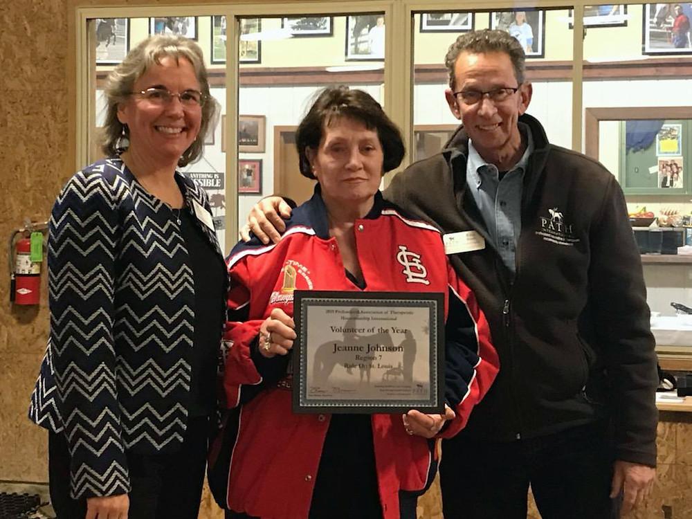Jeanne Johnson PATH Region 7 Volunteer of the Year