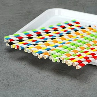 biodegradable stripe paper straws