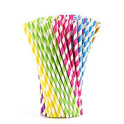 biodegradable stripe paper straws