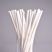 biodegradable plain white paper straw