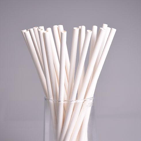biodegradable plain white paper straw