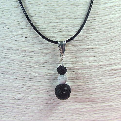 Howlite diffuser pendant