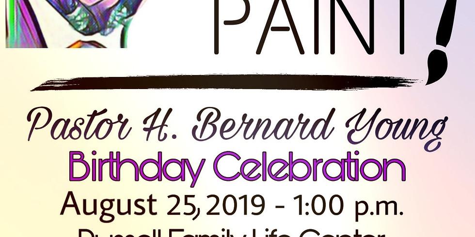 Praise & Paint Pastor Young Birthday Celebration
